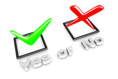 Yes/No voting concept Royalty Free Stock Photos