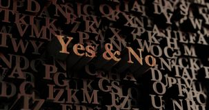 Yes & No - Wooden 3D rendered letters/message Stock Photo