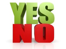 Yes no word Stock Images