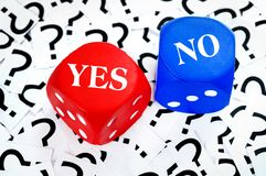 Yes or No word Royalty Free Stock Photos