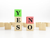 Yes No words Stock Photography
