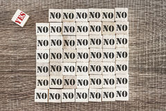Yes and No words on wooden blocks Stock Photography