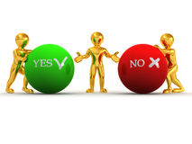 YES ou NO. de Choise Imagens de Stock Royalty Free