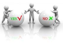YES ou NO. de Choise Fotos de Stock Royalty Free