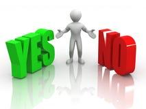 YES ou NO. de Choise Foto de Stock Royalty Free