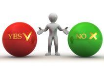 YES ou NO. de Choise Fotos de Stock