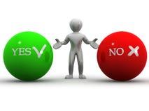 YES ou NO. de Choise Imagens de Stock