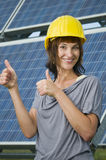 Yes for photovoltaics Stock Photography