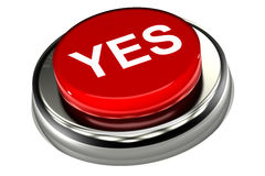 Yes Push Button. A Colourful 3d Rendered 'Yes' Push Button Royalty Free Stock Photos