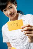 Yes sign Royalty Free Stock Photography