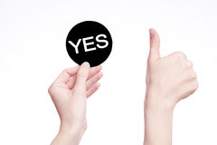 Yes  sign Royalty Free Stock Photos