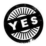 Yes stamp rubber grunge Stock Photography