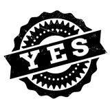 Yes stamp rubber grunge Stock Images