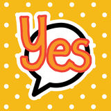 Yes Sticker Social Media Network Message Badges Design. Vector Illustration Stock Photography