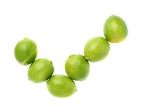 Yes tick mark made of multiple limes isolated over Stock Photo