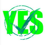 Yes Tick Shows Check Checkmark And Agreeing Royalty Free Stock Photography