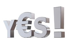 Yes to Euro Royalty Free Stock Photo