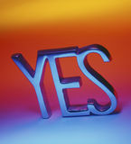 YES - Affirmative. Yes - used to give an affirmative response Royalty Free Stock Photo