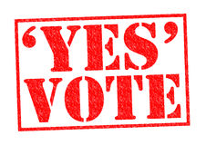 YES VOTE Royalty Free Stock Photography