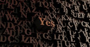 Yes - Wooden 3D rendered letters/message Stock Photos