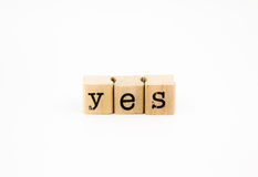 Free Yes Wording Isolate On White Background Royalty Free Stock Images - 37844759