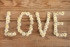 Yes wrote with daisies Royalty Free Stock Photography