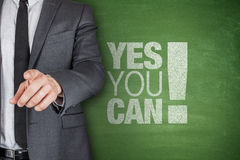 Yes you can on blackboard Royalty Free Stock Photo