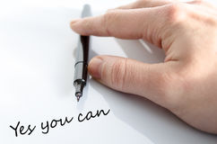 Yes you can Concept Stock Photo