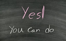 Yes you can do on blackboard Royalty Free Stock Photo