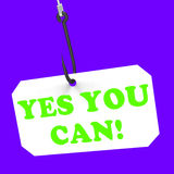 Yes You Can! On Hook Means Inspiration And Stock Photos