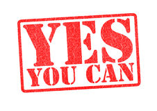 YES YOU CAN Rubber Stamp Stock Images