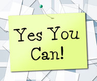 Yes You Can Shows All Right And Okay. Yes You Can Meaning All Right And Positive vector illustration