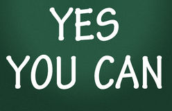 Yes you can symbol Royalty Free Stock Image
