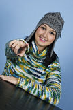 Yes,you!Teen female indicate to you Royalty Free Stock Image