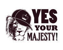 Yes your majesty. Grunge vector illustration Stock Photography