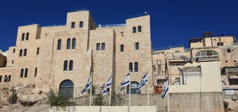 Yeshiva Study of Talmud & Torah near Kotel Royalty Free Stock Photo