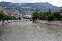 Yesilirmak river in Amasya Stock Photo