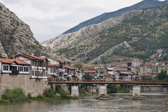 Yesilirmak river in Amasya, Royalty Free Stock Images