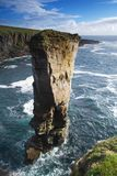 Yesnaby castle. Sea stack on the Orkney coast royalty free stock image