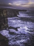 Yesnaby, Orkney - Cliffs and waves stock photos