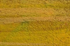Yeso áspero amarillo Fotografía de archivo