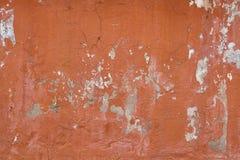Yeso anaranjado viejo del hormigón del cemento Fotos de archivo libres de regalías
