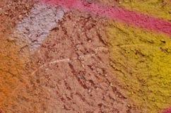 Yeso pintado multicolor Fotografía de archivo