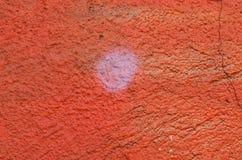 Yeso pintado naranja Foto de archivo libre de regalías