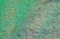 Yeso pintado verde Imágenes de archivo libres de regalías