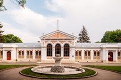 Yessentuki, έδαφος Stavropol/Ρωσία - 14 Μαΐου 2018: οικοδόμηση λουτρών του αυτοκράτορα Nicholas ΙΙ Essentuki Ανώτερα λουτρά Nikol στοκ εικόνα με δικαίωμα ελεύθερης χρήσης