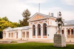 Yessentuki, Stavropol-Grondgebied/Rusland - Mei 14, 2018: badkamers de bouw van Keizer Nicolaas II Essentuki Hogere Nikolaev-bade royalty-vrije stock afbeeldingen