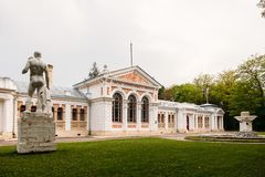 Yessentuki, Stavropol-Grondgebied/Rusland - Mei 14, 2018: badkamers de bouw van Keizer Nicolaas II Essentuki Hogere Nikolaev-bade stock afbeeldingen