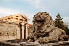 Yessentuki, Stavropol Territory / Russia - May 14, 2018: Semashko mud baths . statue lion royalty free stock photos
