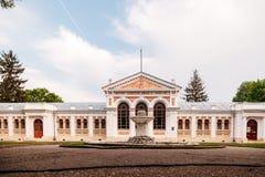Yessentuki, territorio de Stavropol/Rusia - 14 de mayo de 2018: edificio del cuarto de baño del emperador Nicolás II Essentuki Ba fotografía de archivo